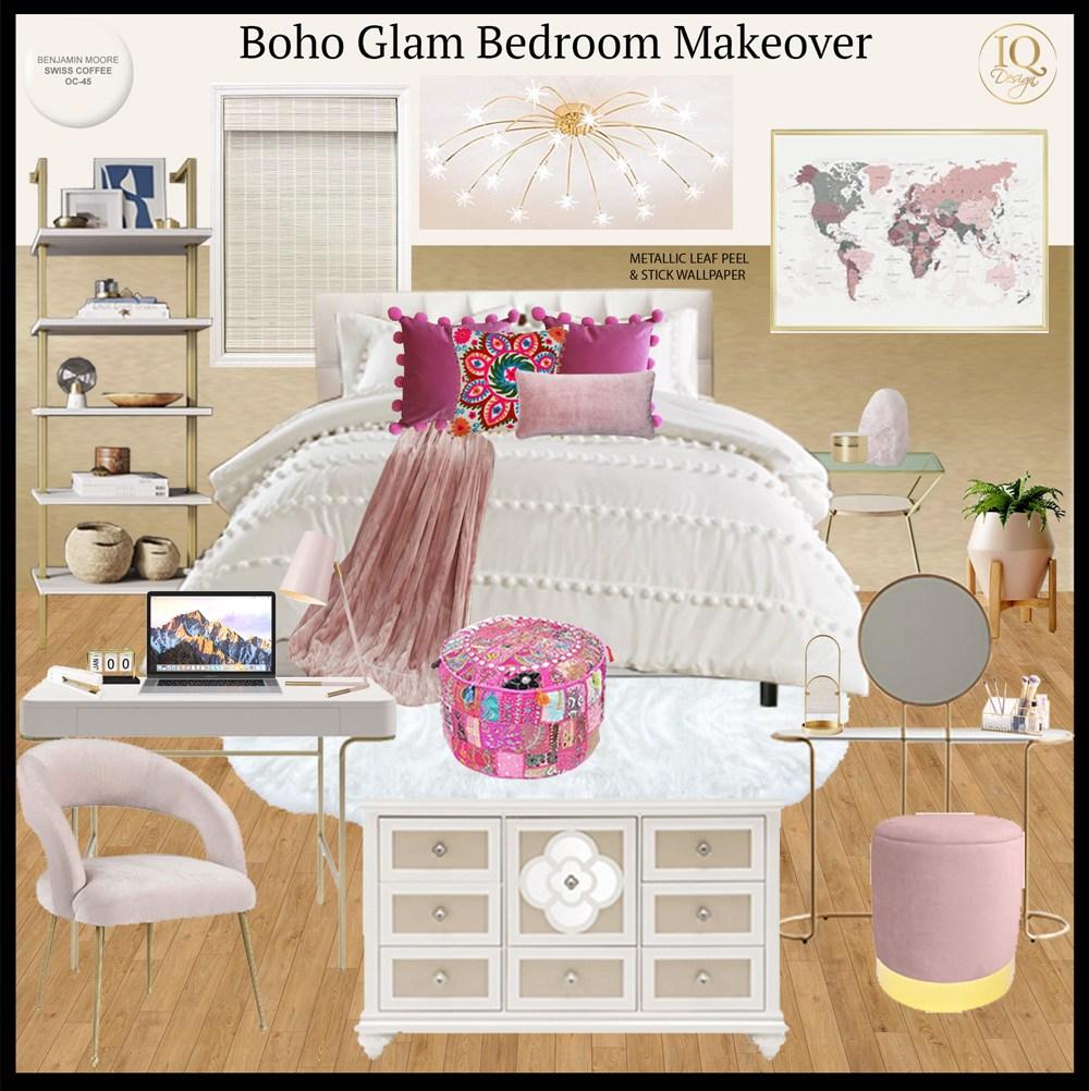 boho-glam-dorm-at-home-bedroom