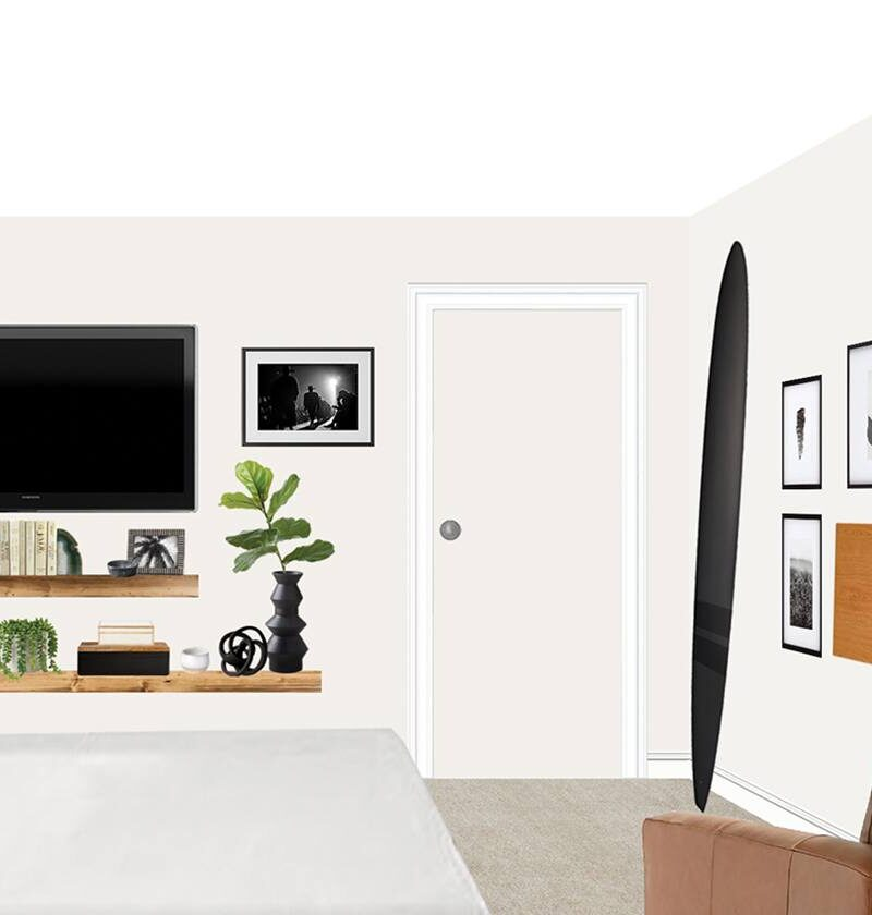 how-to-decorate-floating-shelf-around-tv