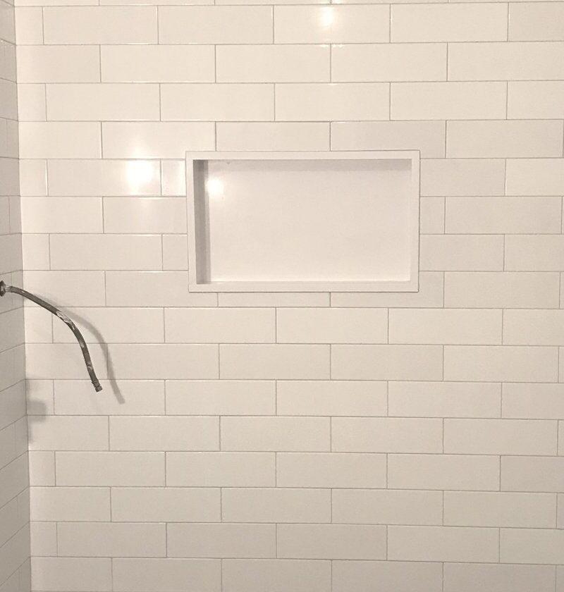 White Subway Tile Dye Lot Color Variations