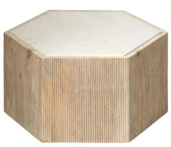 white-marble-hexagon-table