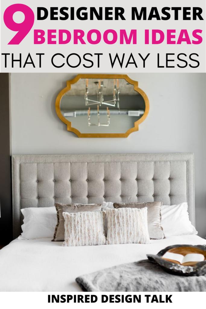 designer master bedroom