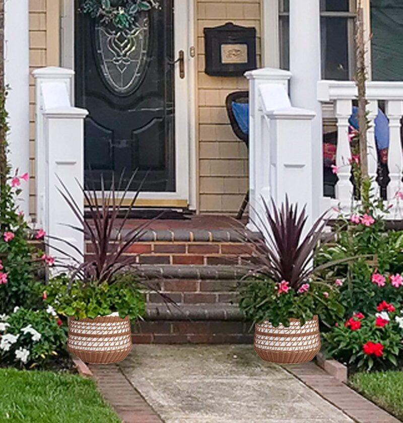 16 Front Porch Planter Ideas For People Who Kill Every Plant
