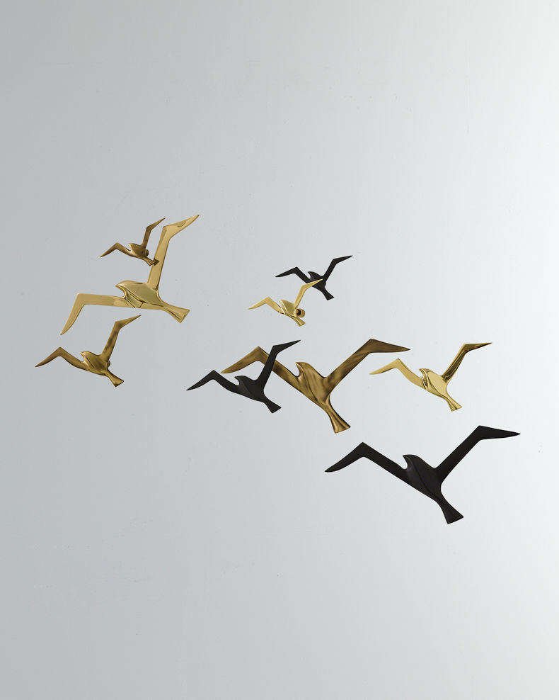 black and gold birds home decor